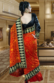 HEAVY EMBROIDERED RESHAM SAREE