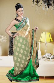 HALF N HALF GEORGETTE BORDER SAREE