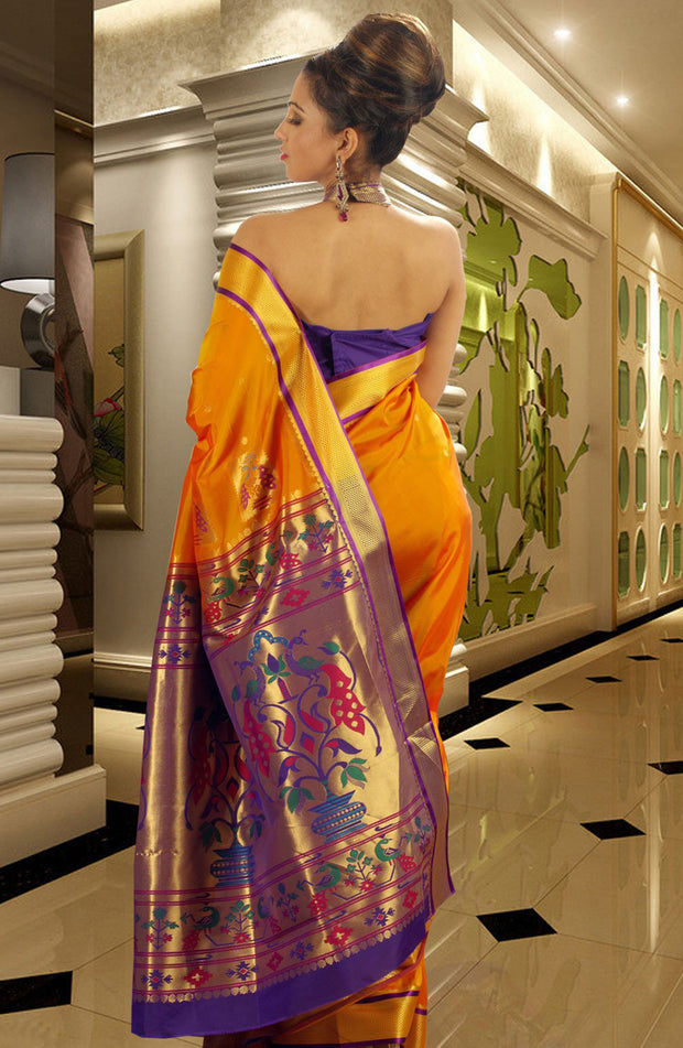 TRADITIONAL PAITHNI ART SILK SAREE