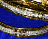 Slim Golden Multicolor Stone Bangles