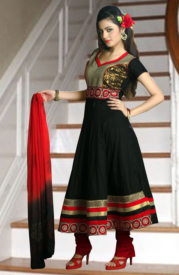 COTTON ANARKALI SET