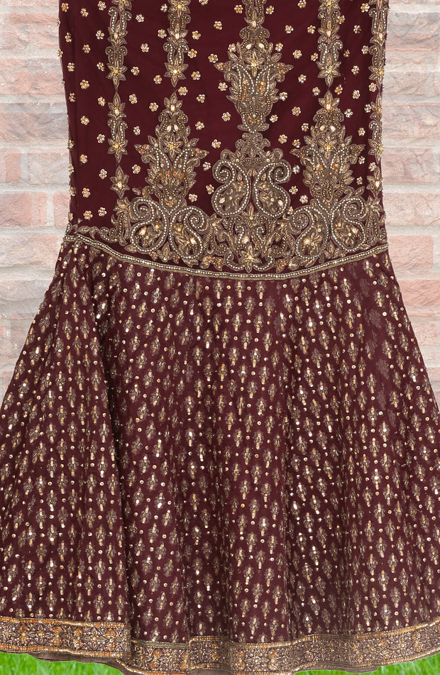 Mermaid Cut Jacquard Brasso Lehenga