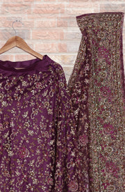 Flairy Umbrella Cut Tullle Lehenga