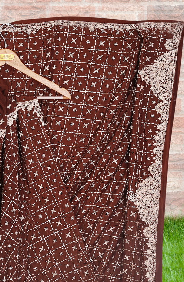 Umbrella Cut Traditional  Zardosi Handwork Lehenga