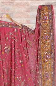 Coral  Lehenga Set In Zardosi Embroidery