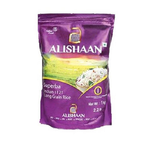 Alishaan superba indian 1121 basmati long grain rice