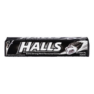 Halls extra strong mint flavoured candy