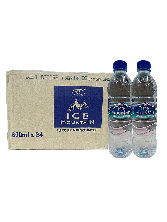 Ice Mountain Pure Drinking Water 600ml Bottles x 24 Carton