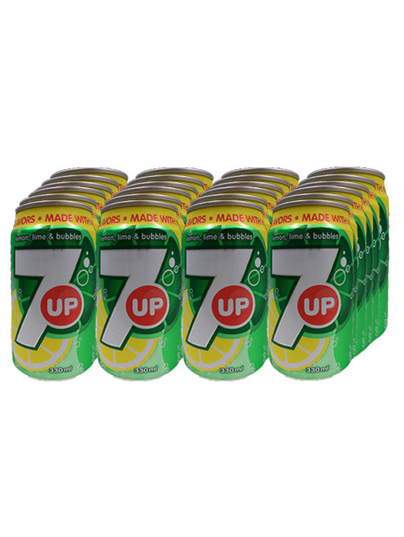 7 Up Canned Drinks (Pack of 24 X 330ml)