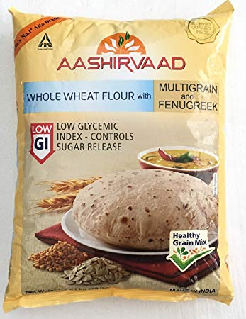 Aashirvaad whole wheat atta with multigrains and fenugreek 2 kg