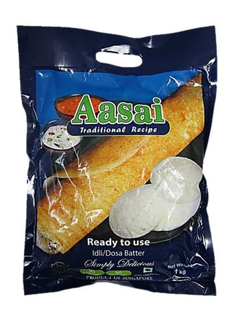 Aasai Traditional Recipe Ready to Use Idli/Dosa Batter 1kg
