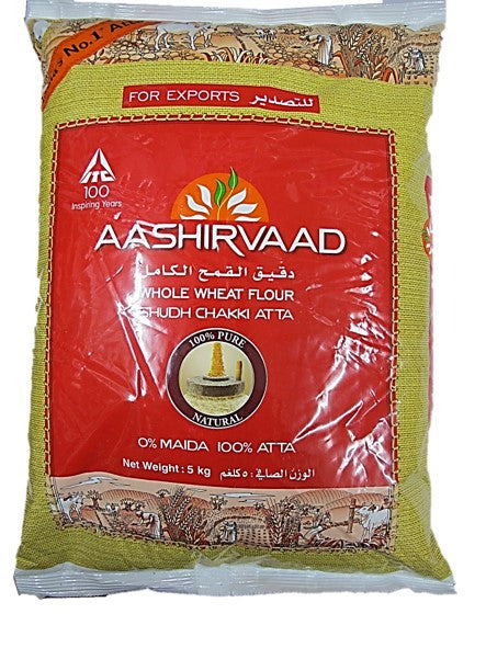 Aashirvaad Whole Wheat Flavour Flour 100% Atta 5kg