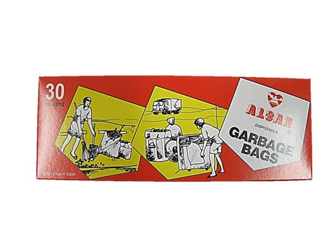 Alsan Disposable Garbage Bags (47cm x 53cm) 30 Pieces