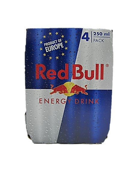 Austria Red Bull Energy Drink Can Pack (4 Cans x 250ml)
