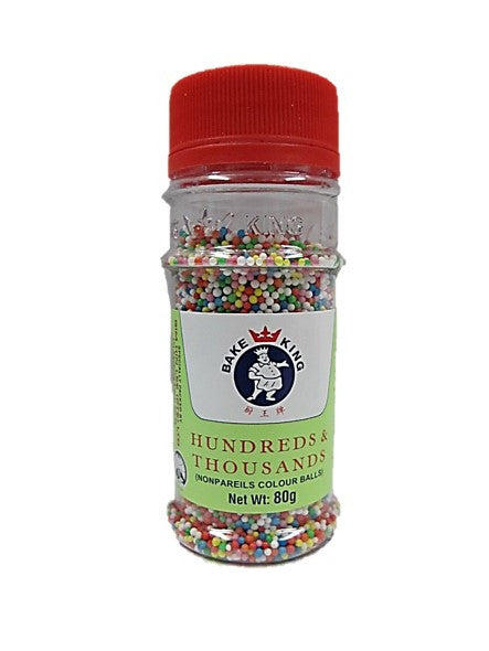 Bake King Hundreds & Thousands (Nonpareils Colour Balls) 80g