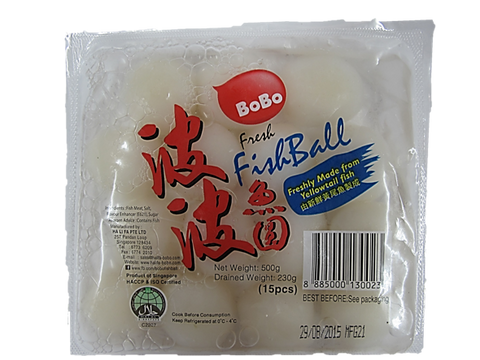 BoBo Fresh Fishball 15 Pieces 500g