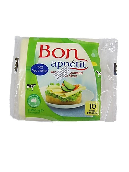 Bon Appetit Australian Processed Cheese Slices 10 Slices 100% Vegetarian