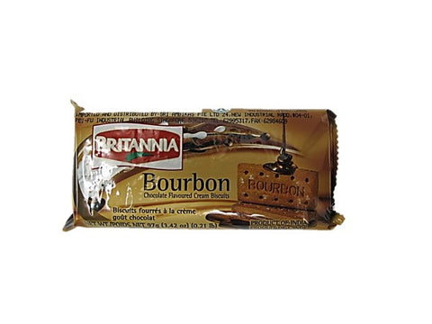 Britannia Bourbon Chocolate Flavoured Cream Biscuit 90g