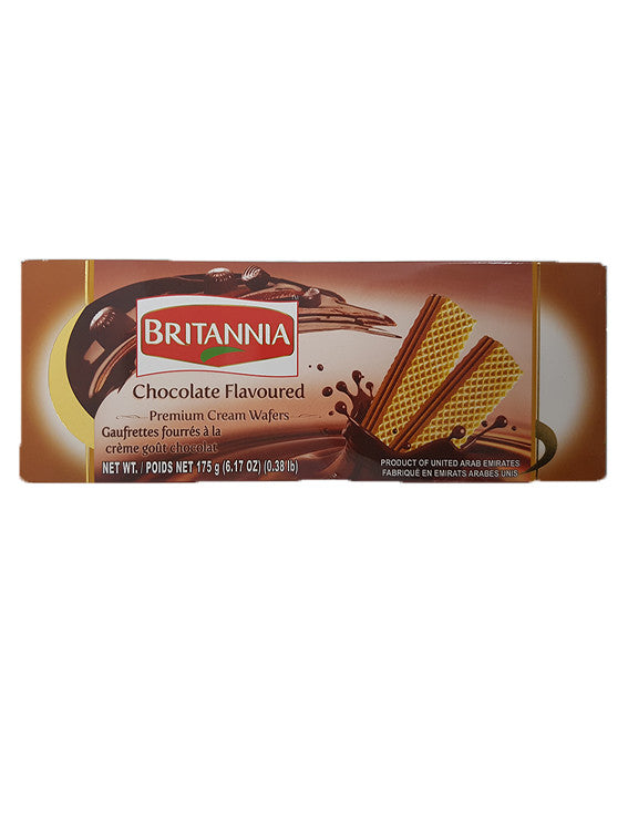 Britannia Chocolate Flavoured Premium Cream Wafers 175g