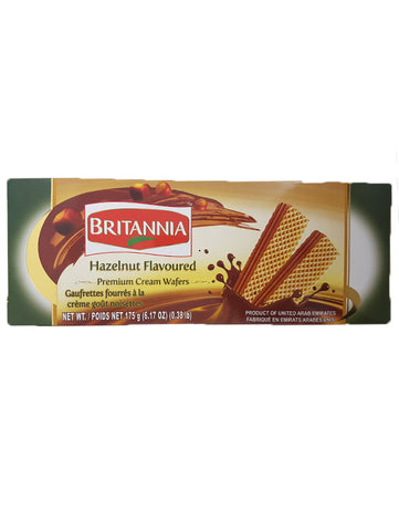 Britannia Hazelnut Flavoured Premium Cream Wafers 175g