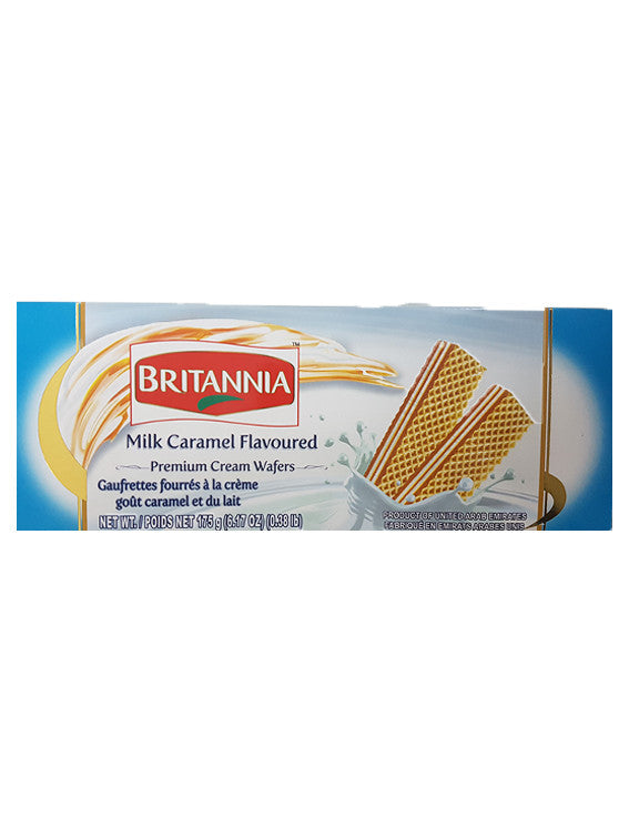 Britannia Milk Caramel Flavoured Premium Cream Wafers 175g