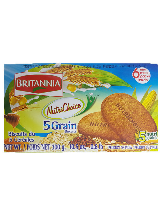 Britannia NutriChoice 5 Grain Biscuits (6 mini packs) 300g