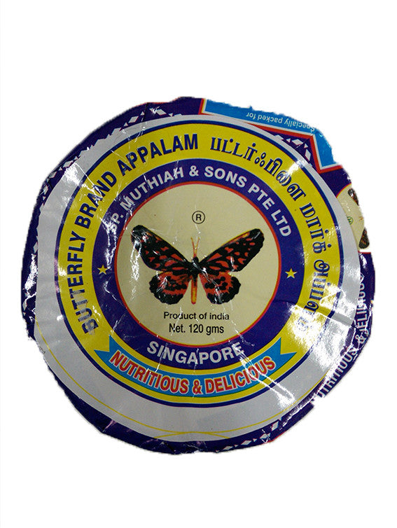 Butterfly Brand Appalam 120g
