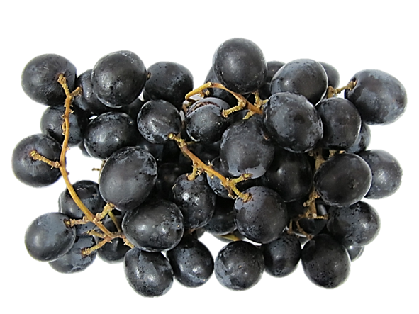 Grapes: Black California Seedless Grapes ~550g