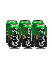 Carlsberg Beer 330ml x 6 Cans Pack