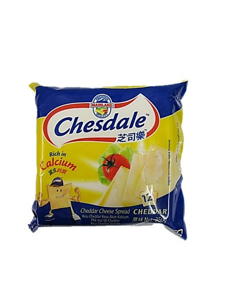 Chesdale Cheedar Cheese Spread 12 Slices 250g