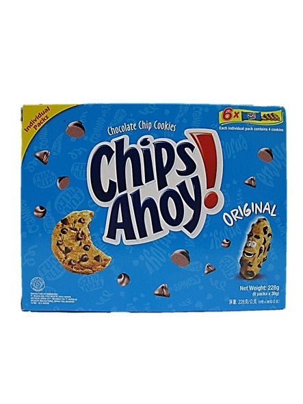 Chips Ahoy! Chocolate Chip Cookies Original  6 Packets Pack 228g