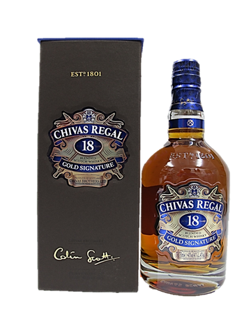 Chivas Regal Blended Scotch Whisky Golden Signature Aged 18 Years 750ml