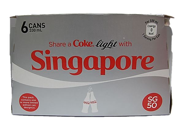 Coca Cola Light (Pack of 6 X 330ml)
