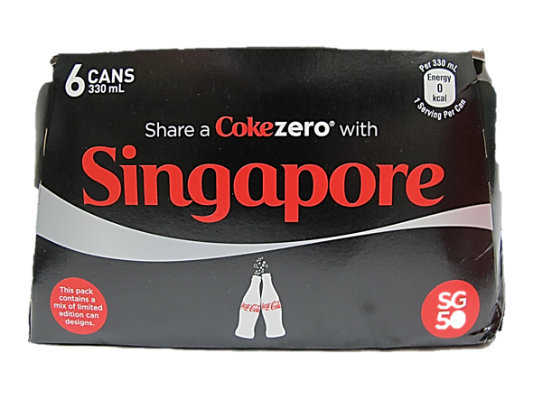 Coca Cola Zero (Pack of 6 x 330ml)