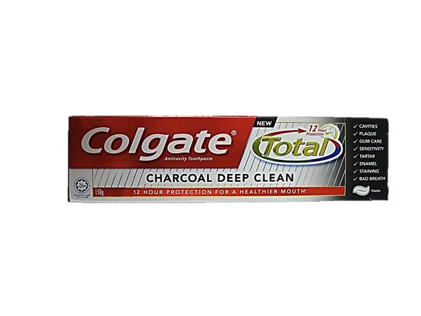 Colgate Total Charcoal Deep Clean 150g