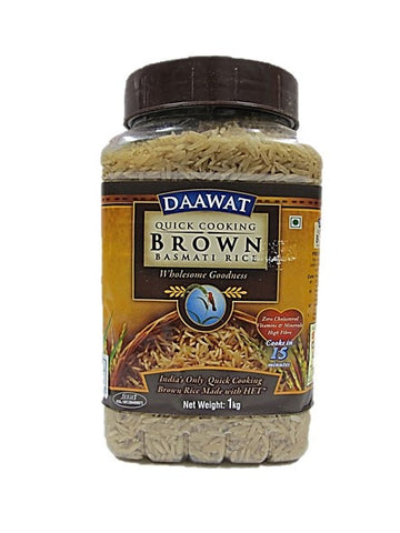 Daawat Quick Cooking Brown Basmati Rice (Cooks in 15 mins) 1kg
