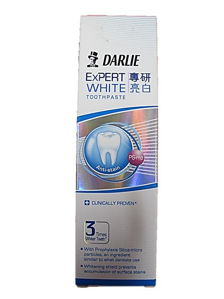 Darlie Expert White Anti-Stain Clinically Proven 3 Times Whiter Teeth 120g