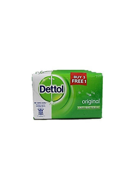 Dettol Original Anti-Bacterial Soap 4 Bars Pack