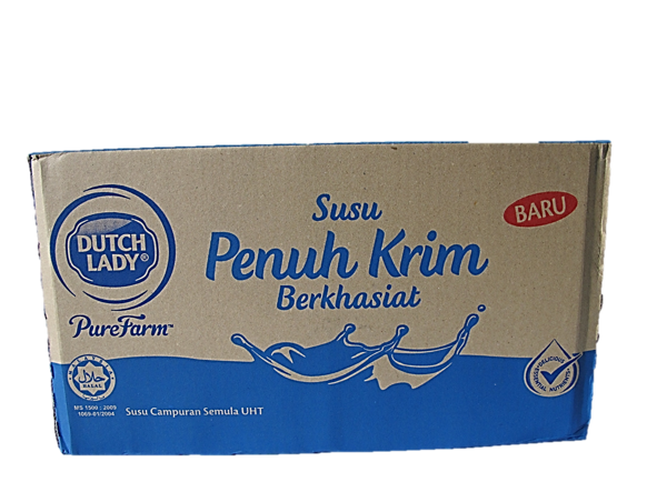 Dutch Lady Pure Farm Full Cream Milk 1L x 12 Packets Carton