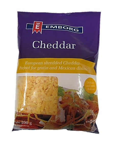 Emborg Shredded Cheddar Cheese 200g