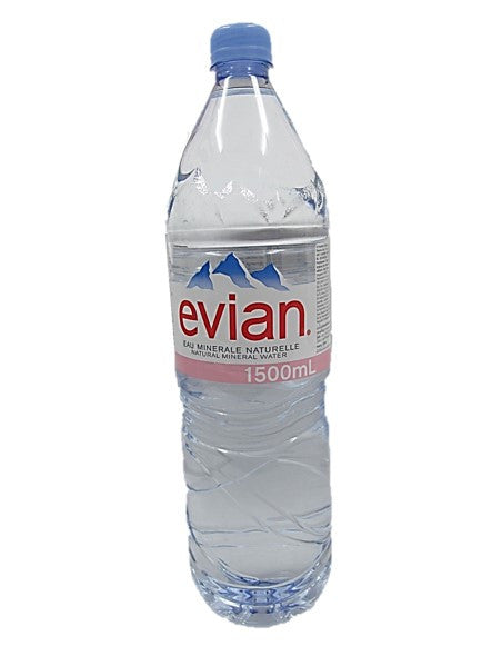 Evian Natural Mineral Water 1.5L Bottle