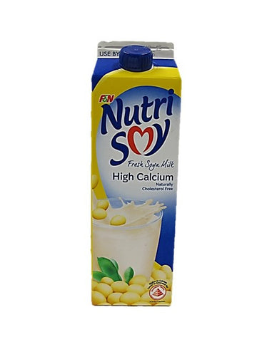 Nutri Soy Fresh Soya Milk High Calcium Naturally Cholesterol Free 1L
