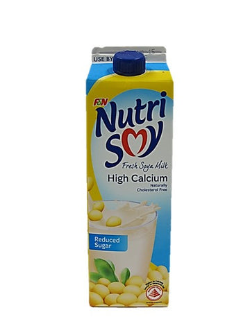 Nutri Soy Fresh Soya Milk High Calcium Naturally Cholesterol Free Reduced Sugar 1L