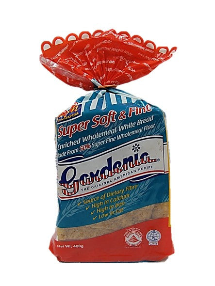 Gardenia Super Soft & Fine Enriched Wholemeal White Bread 400g