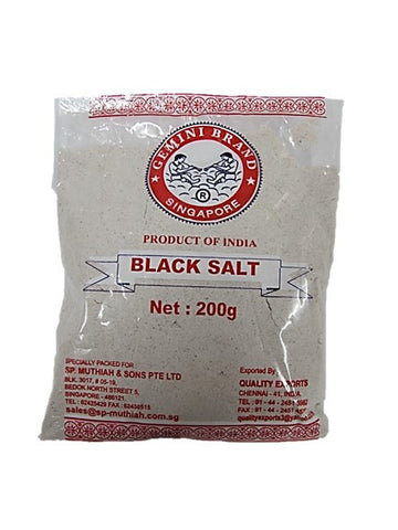 Gemini Brand Black Salt 200g