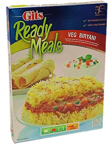 Gits Ready Meals Veg Briyani 265g