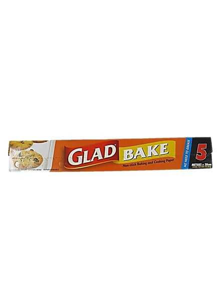 Glad Bake New Stick Baking and Cooking Paper (5 Metres x 35 cm)