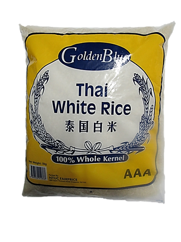 Golden Blue Thai White Rice 100% Whole Kernel AAA 5kg