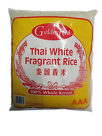 Golden Red Thai White Fragrant Rice 100% Whole Kernel AAA 5kg