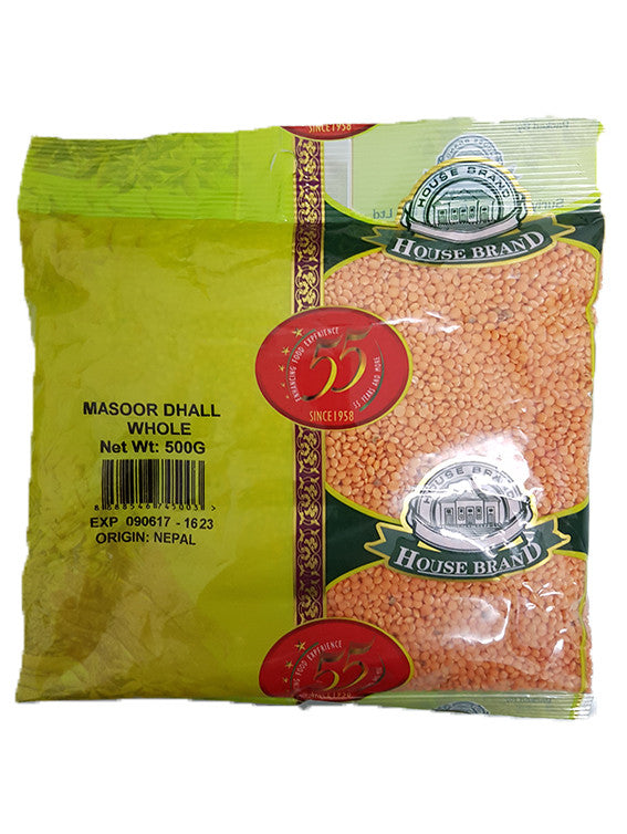 House Brand Masoor Dhall Whole 500g